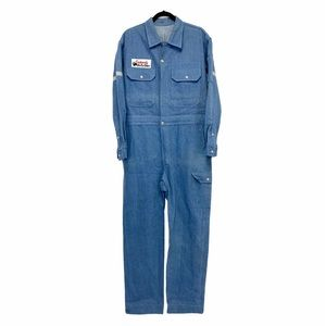 Vintage 1990s Denim Work Coveralls Jumpsuit